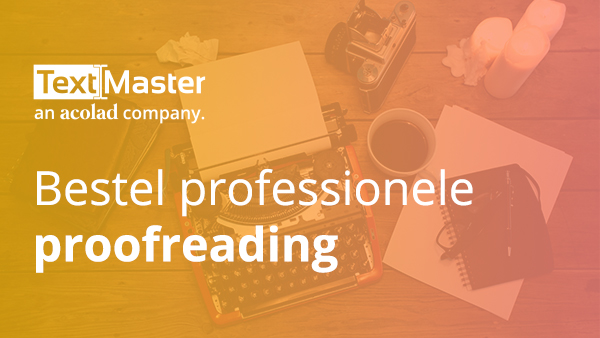 Bestel professionele proofreading
